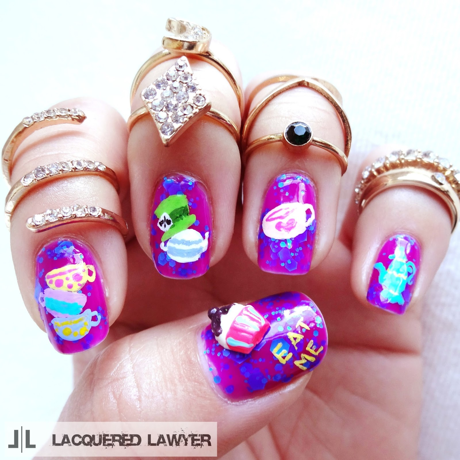 Mad Hatter Nail Art