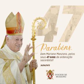 Dom Mariano celebra 47 anos de ordenação sacerdotal