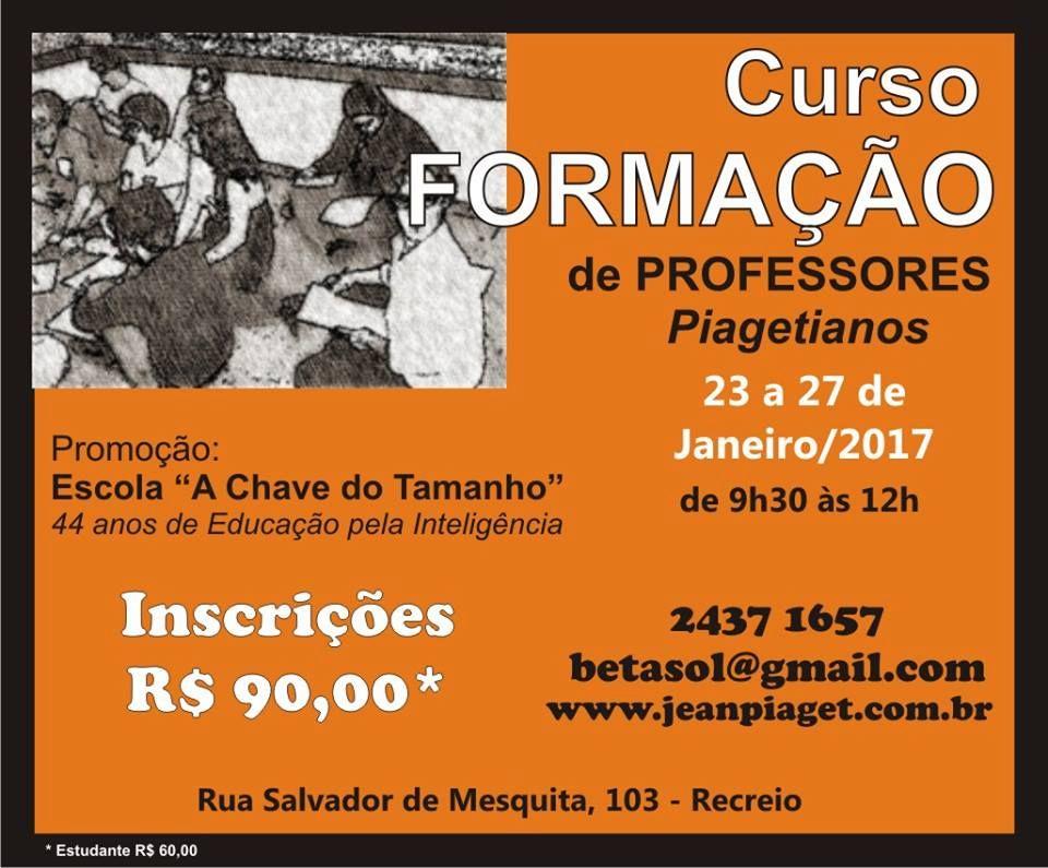 Curso de Formação de Professores 2017