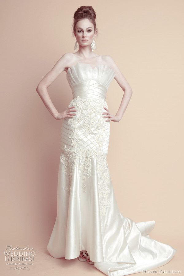 Honey Buy Oliver Tolentino Pink Wedding Dresses