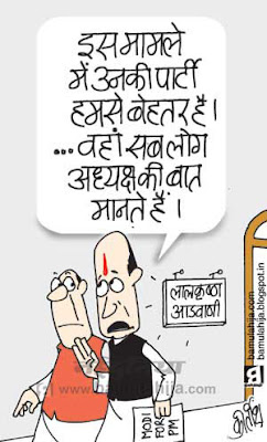 bjp cartoon, narendra modi cartoon, election 2014 cartoons, sonia gandhi cartoon, congress cartoon, lal krishna advani cartoon, indian political cartoon, modi for pm cartoon