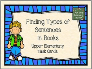 http://fabulousfreebiesforteachers.blogspot.com/2015/06/finding-types-of-sentences-in-books.html