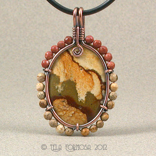 Picture Stone Fancy Jasper Pendant