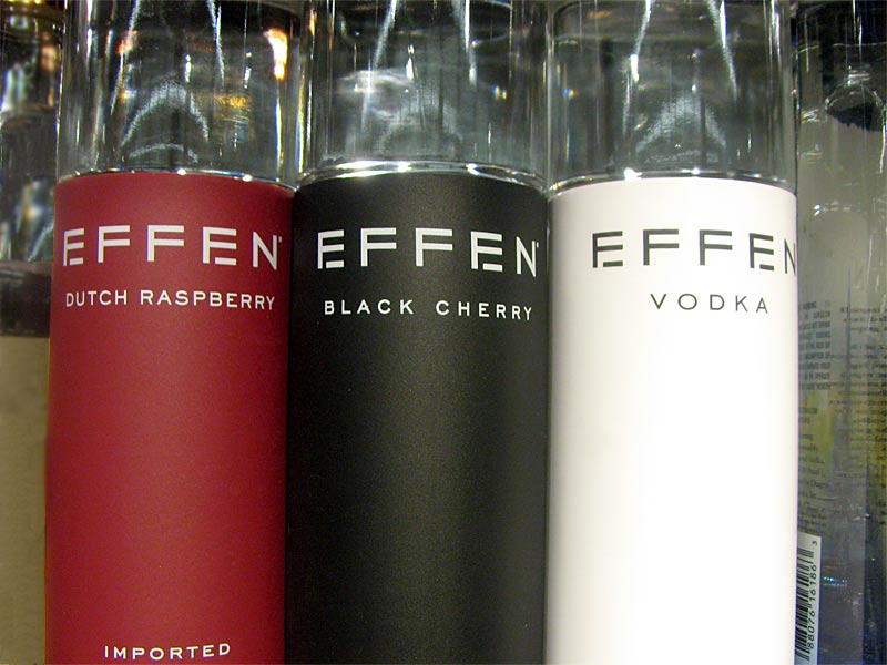 Bottles of Effen Vodka