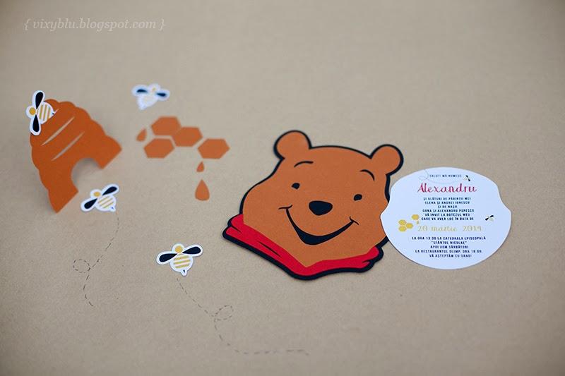 invitatii botez Winnie the Pooh, pachet petrecere copii