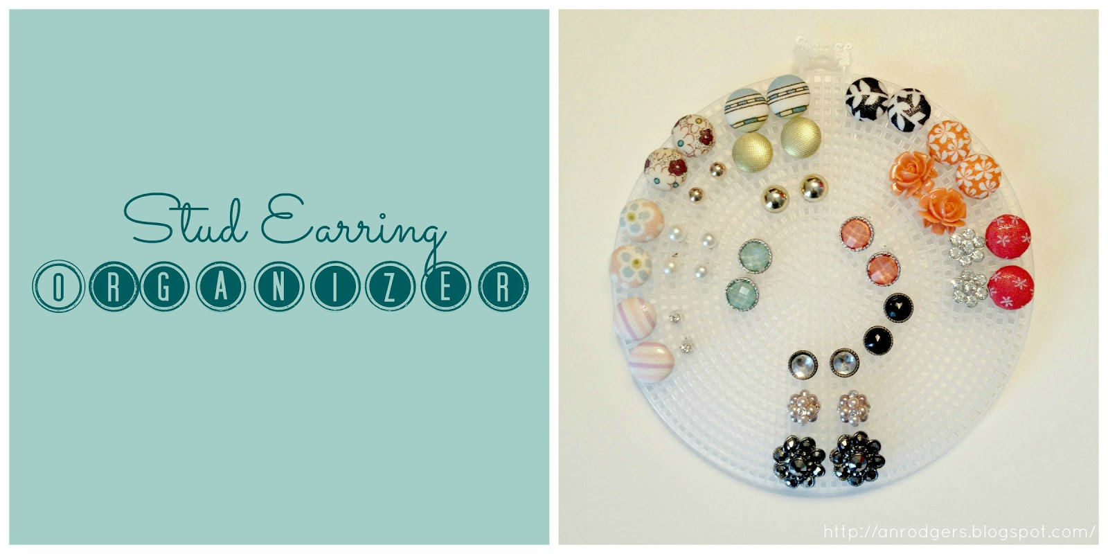 Stud Earringanizer Recently I Constructed My Own Jewelry Case (details  In A Future Post) So That I Couldanize All My Earrings, Necklaces,