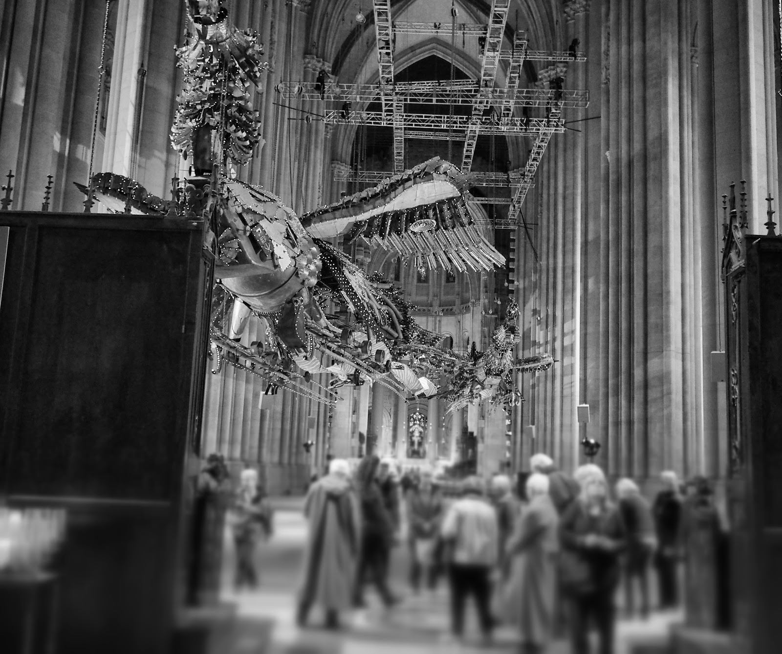 Feng and Huang #fengandhuang #phoenix #XuBing #stjohnthedivinecathedral #art #nyc ©2014 Nancy Lundebjerg