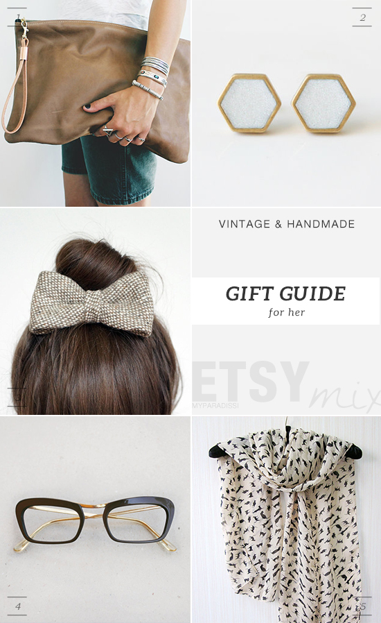 Vintage and handmade holidays gift guide from Etsy for women by My Paradissi