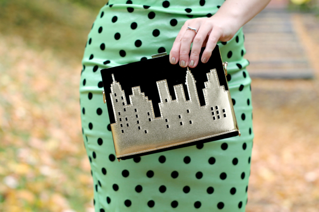Vendula London New York Lights evening clutch bag