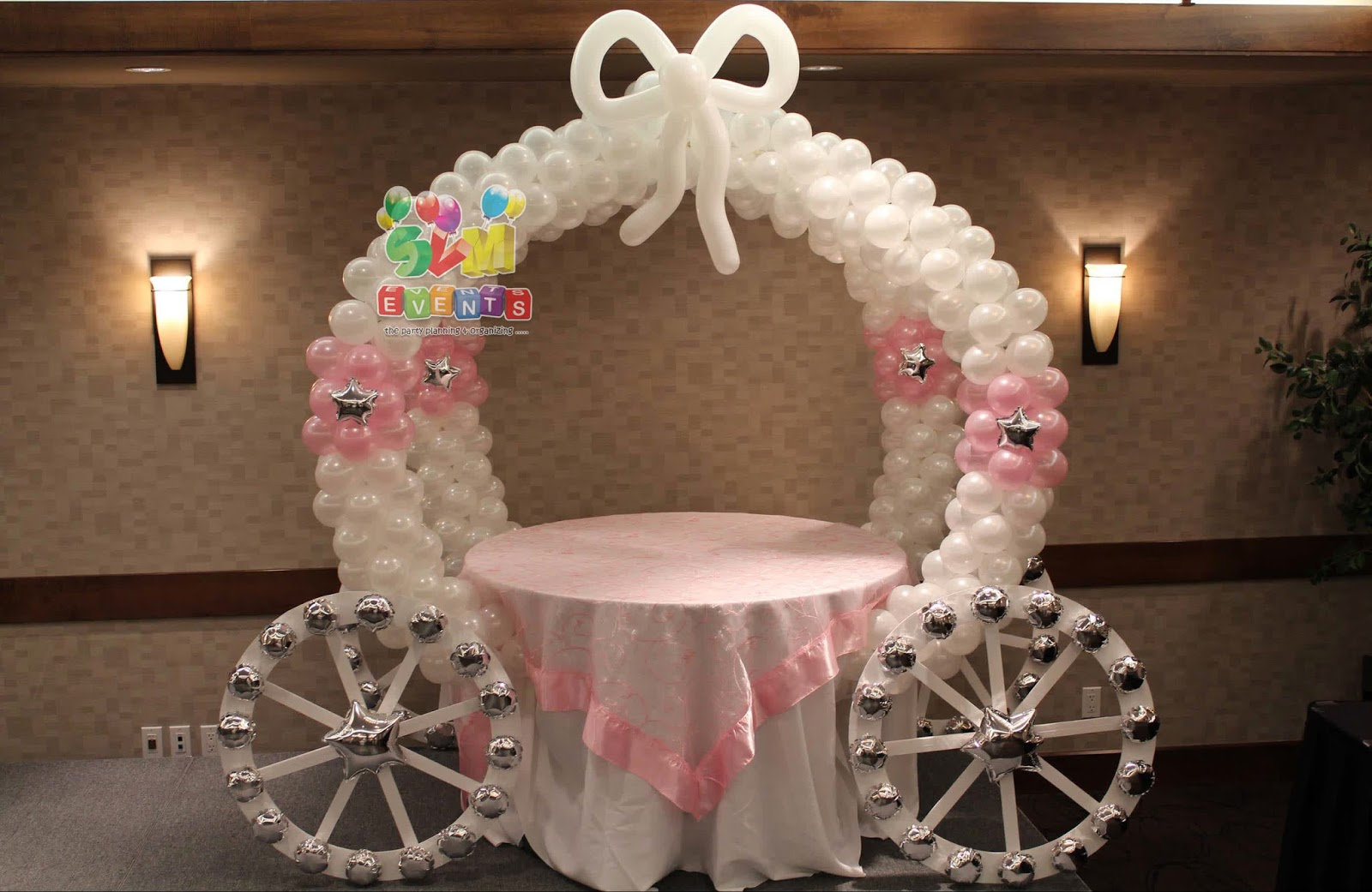 Svm events chariot theme for kids 1st birthday party and for Balloon decoration for kids party