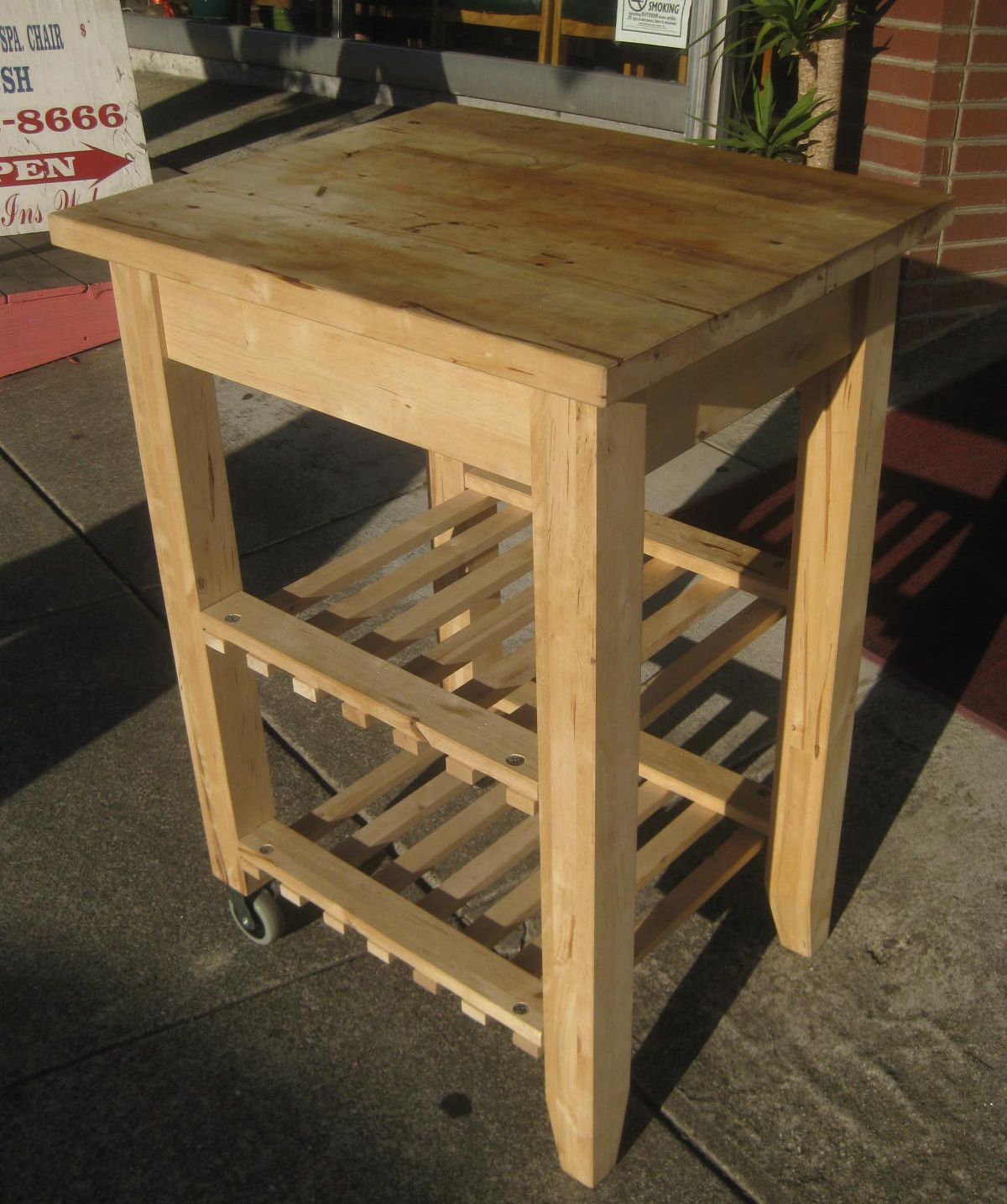 UHURU FURNITURE & COLLECTIBLES: SOLD - Rolling Butcher Block