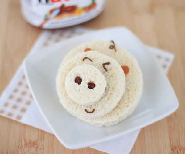 Revista Padres: Cocina divertida para niños - Sandwiches divertidos