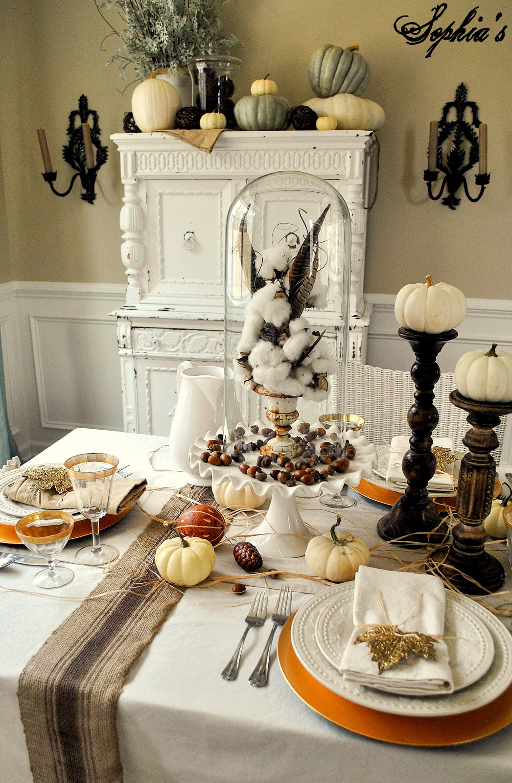 Sophia 39 s thanksgiving table setting for Thanksgiving home ideas