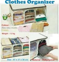 Gambar clothes organizer,gambar clothes organizer sekat 3,gambar rak pakaian