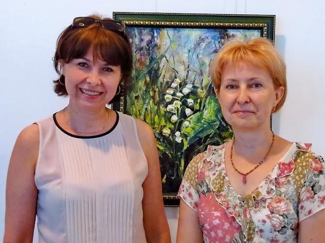 Анна Лавреха и киевская художница Оксана Лупич