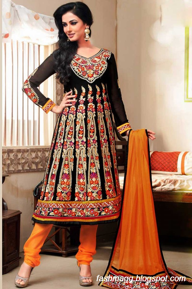 Indian Latest Anarkali Wedding Frock Suits Collection 2014-New ...