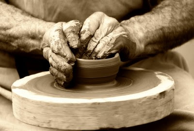 Picture of Potter working on a clay
