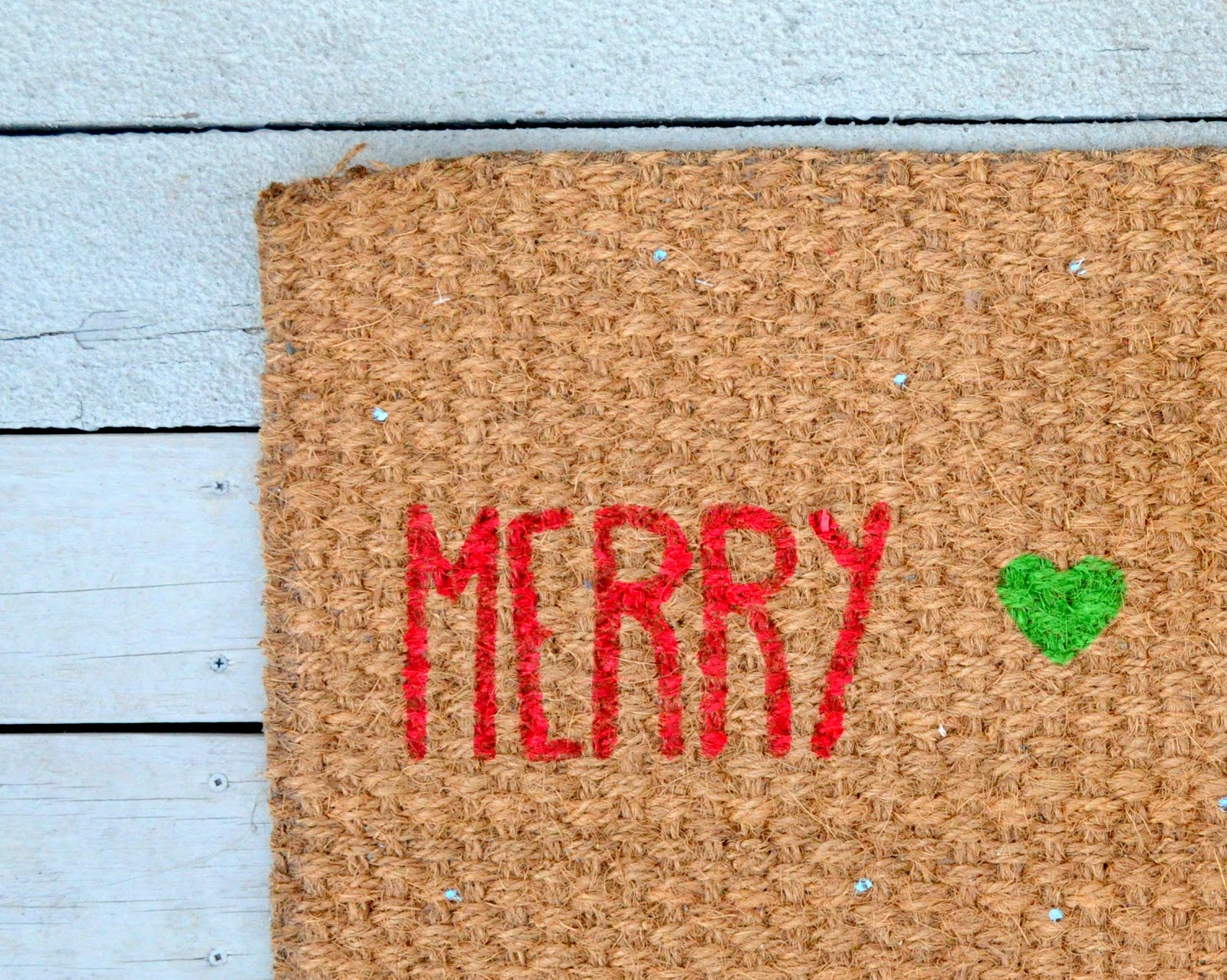 Diy Merry Bright Christmas Doormat