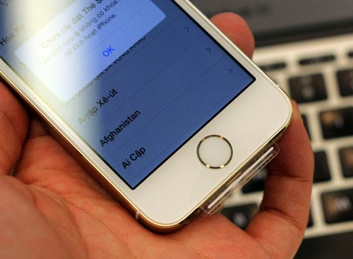 Touch ID trên iPhone 5S hoạt động không như mong muốn