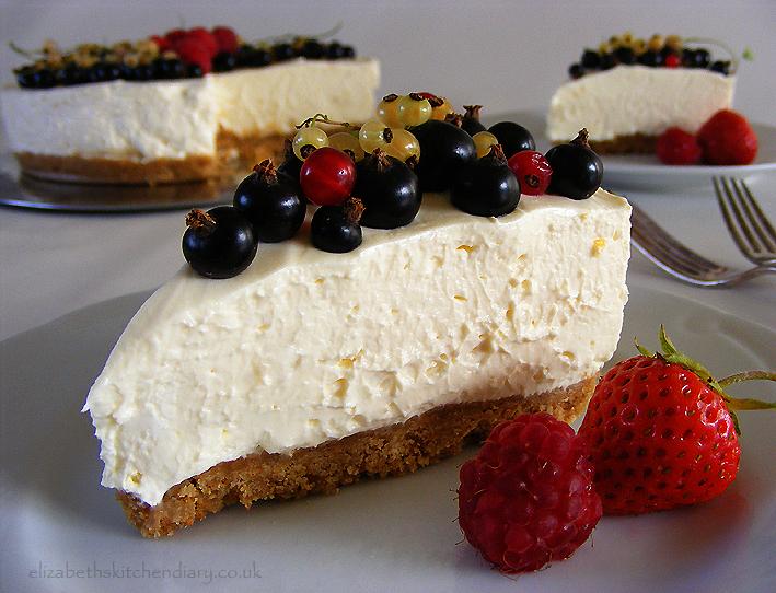 No Bake Summer Fruits Cheesecake