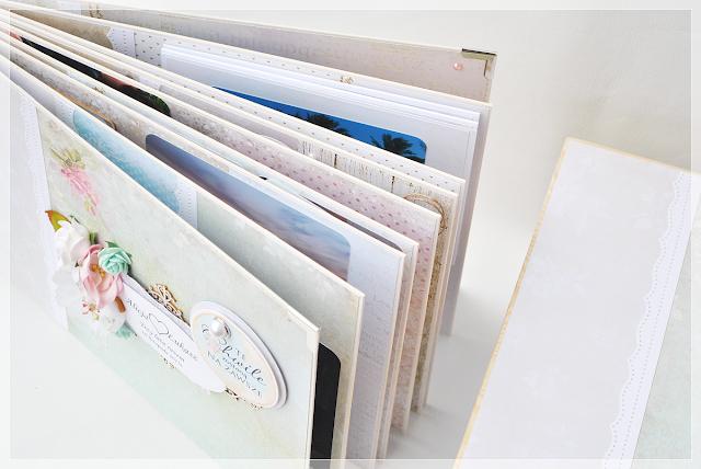 album z okazji 3 rocznicy związku, pudełko drewniane, scrapbooking