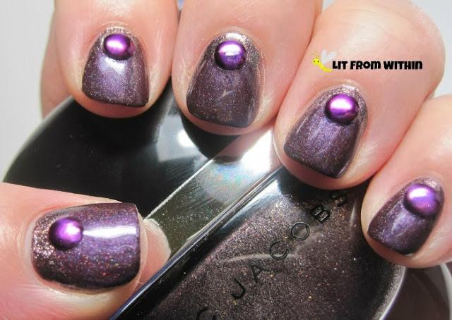 Gothic Gala Lacquers Vallis Te'nebris, a vampy purple holo