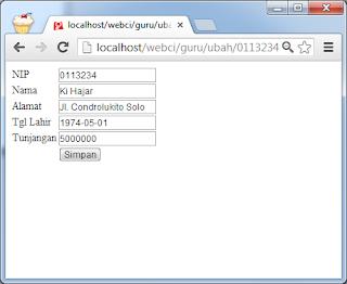 Mengedit (Update) Data pada CodeIgniter Menggunakan Helper Form