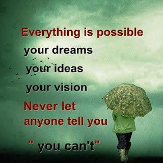 Elegant Everything Is Possible Quote
