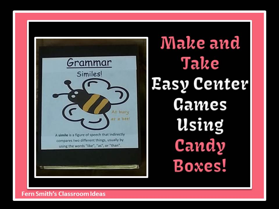 Easy Make and Take Centers with Leftover Valentine's Day Candy Boxes by Fern Smith's Classroom Ideas
