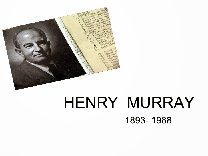 "essays of henry murray Essential points about henry murray personality is located in the brain ""no brain, no personality"" from a psychoanalytic perspective murray used the."