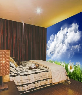 wall wallpaper-Bedroom Wall Painting-mural wallpaper photos