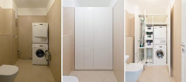 Ideen für Wäschepflege, Ideen Badschrank, Ideen Einbauschrank Bad