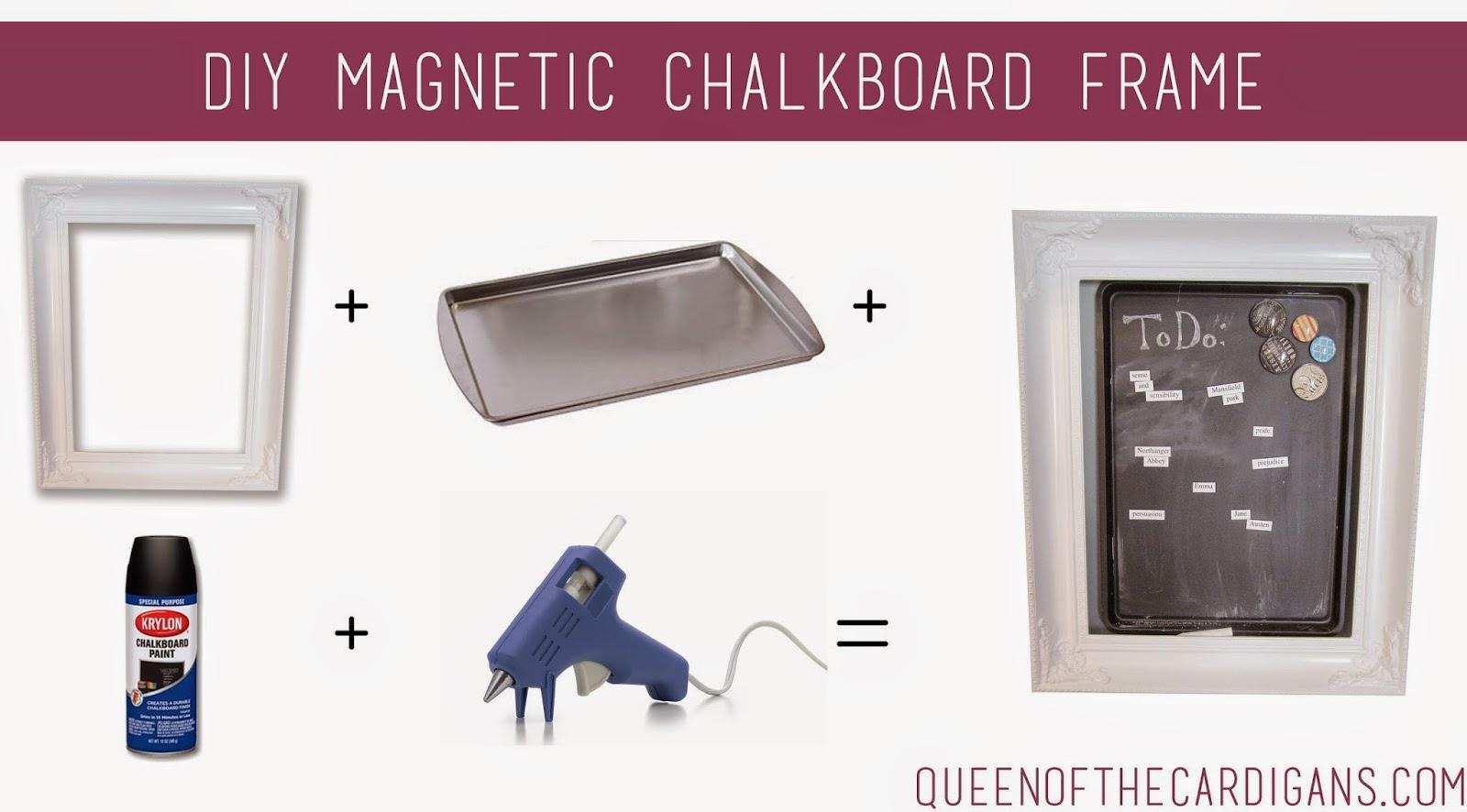 Queen of the Cardigans: DIY Magnetic Chalkboard Tutorial