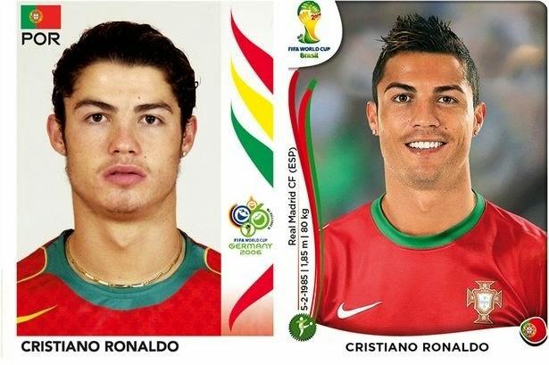 Jogadores da Copa: Antes e depois