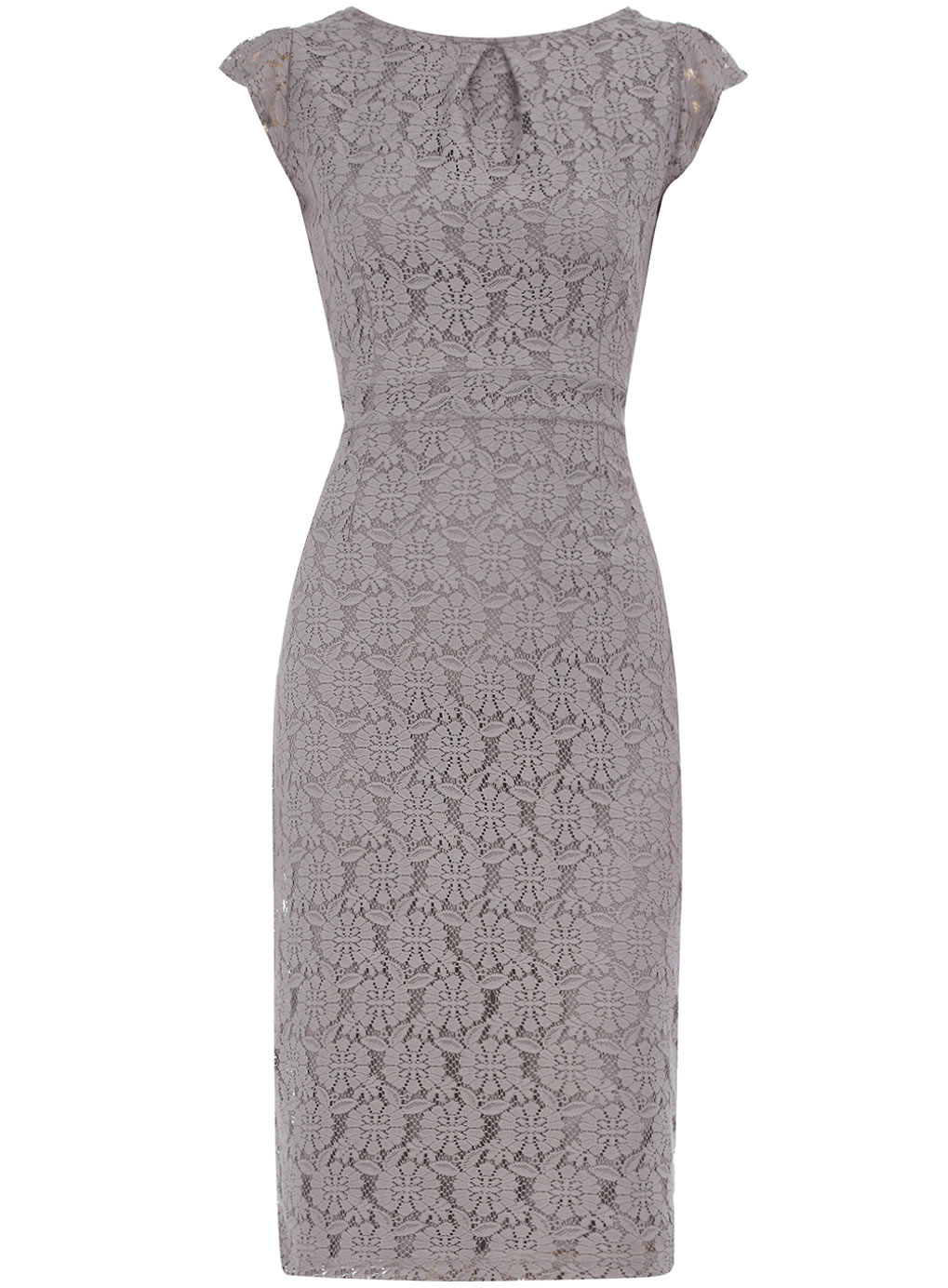 Galerry lace dress in grey