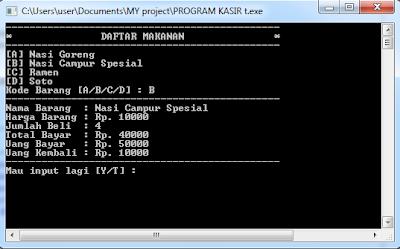 gambar program kasir