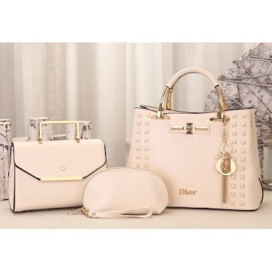 DIOR DESIGNER BAG (3 IN 1 SET) - CREAM