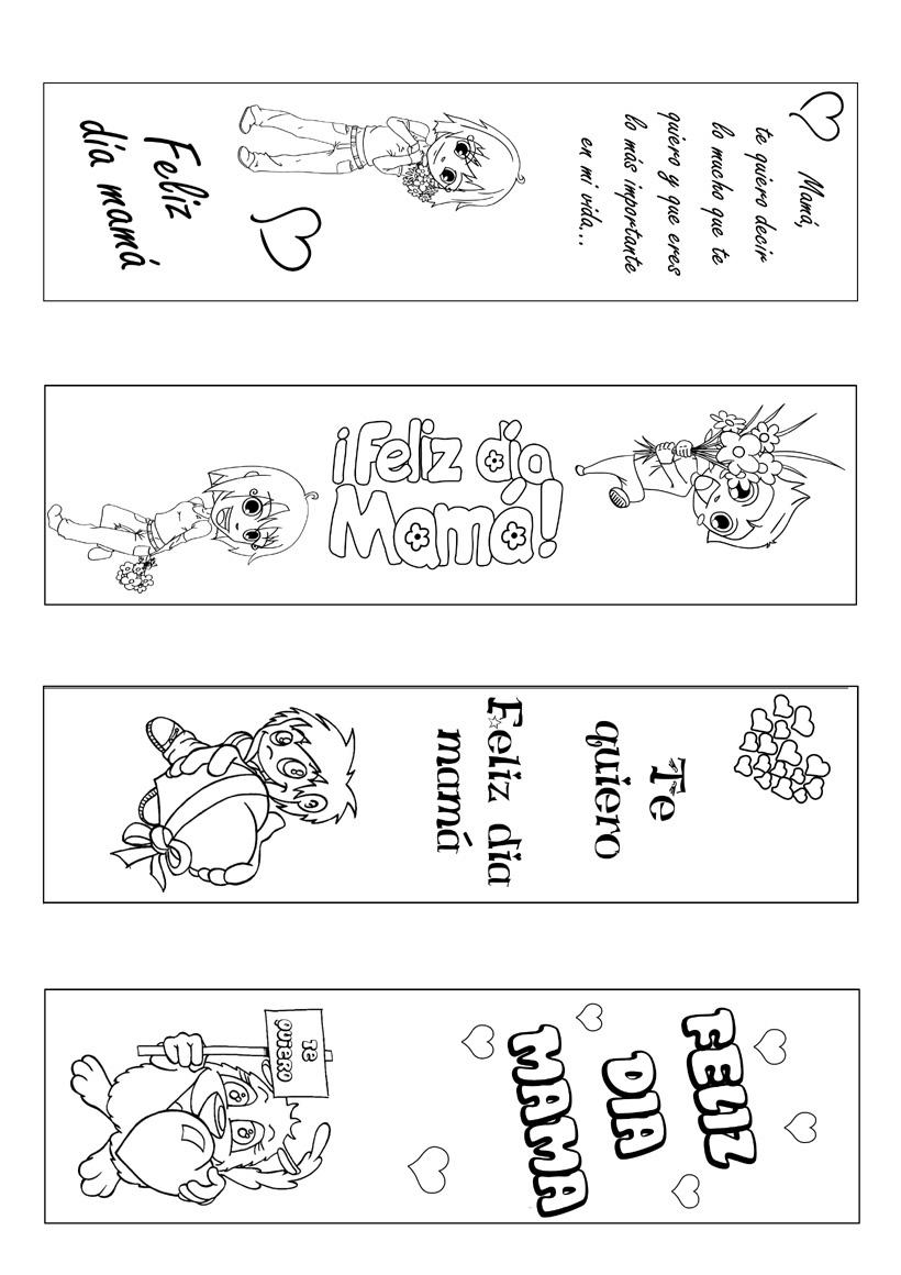 Manualidades para niños: Marcapáginas día de la madre