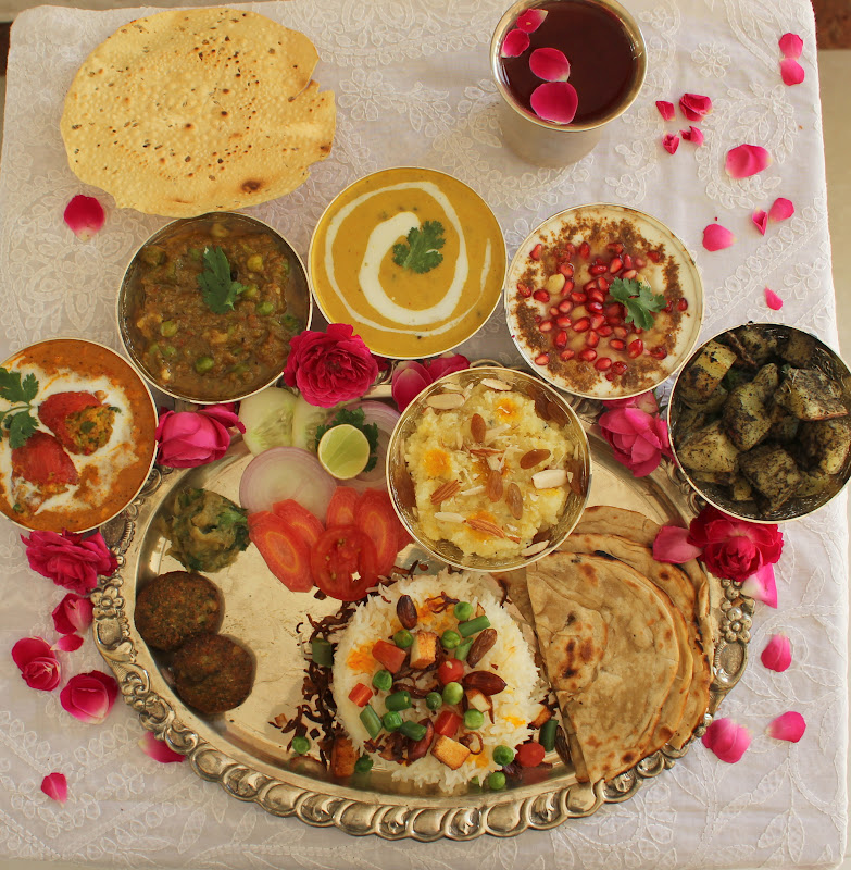 Awadhi thaali ribbons to pastas for Cuisines of uttar pradesh