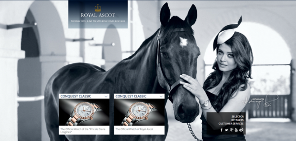 Aishwarya's new ad for Longines Royal Ascot