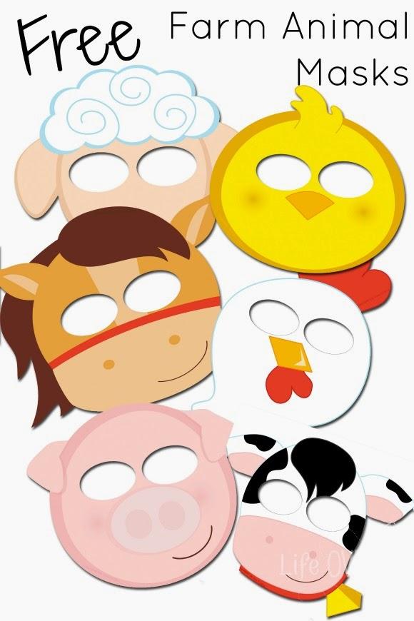 mask templates to print free farm animals masks templates printable