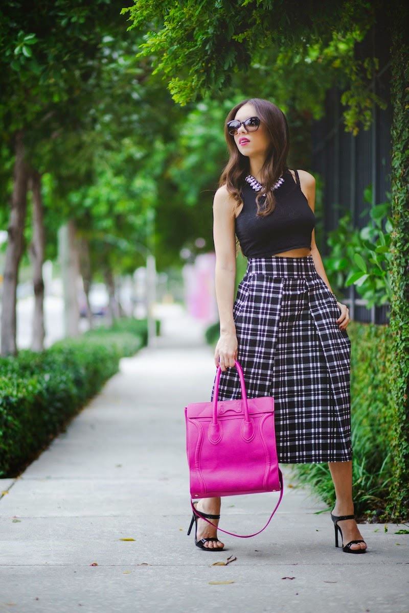 miami fashion blogger, fashion blogger, nany's klozet, daniela ramirez, how to wear, fashion trends,  midi skirt, crop top, dailylook