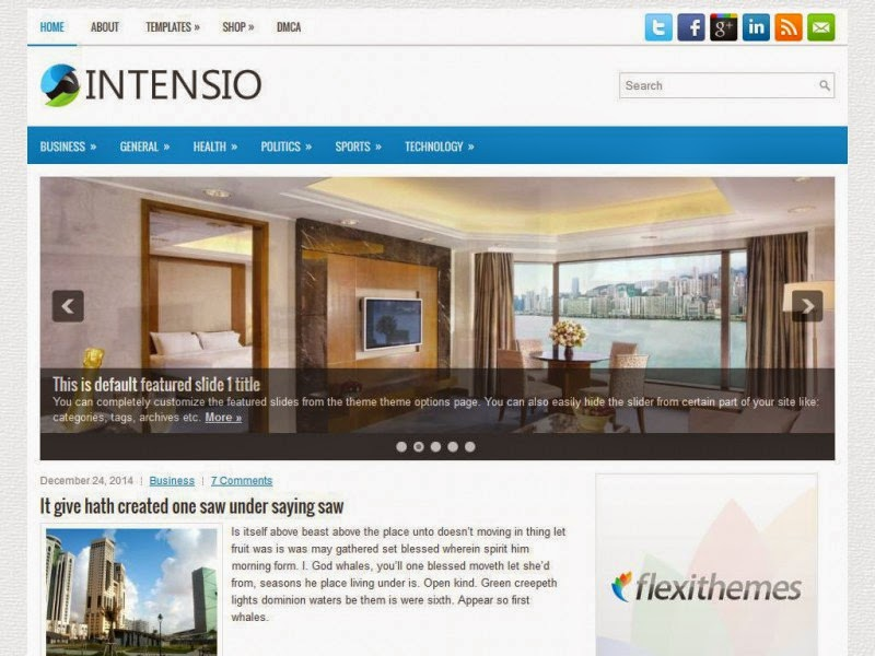 Intensio - Free Wordpress Theme