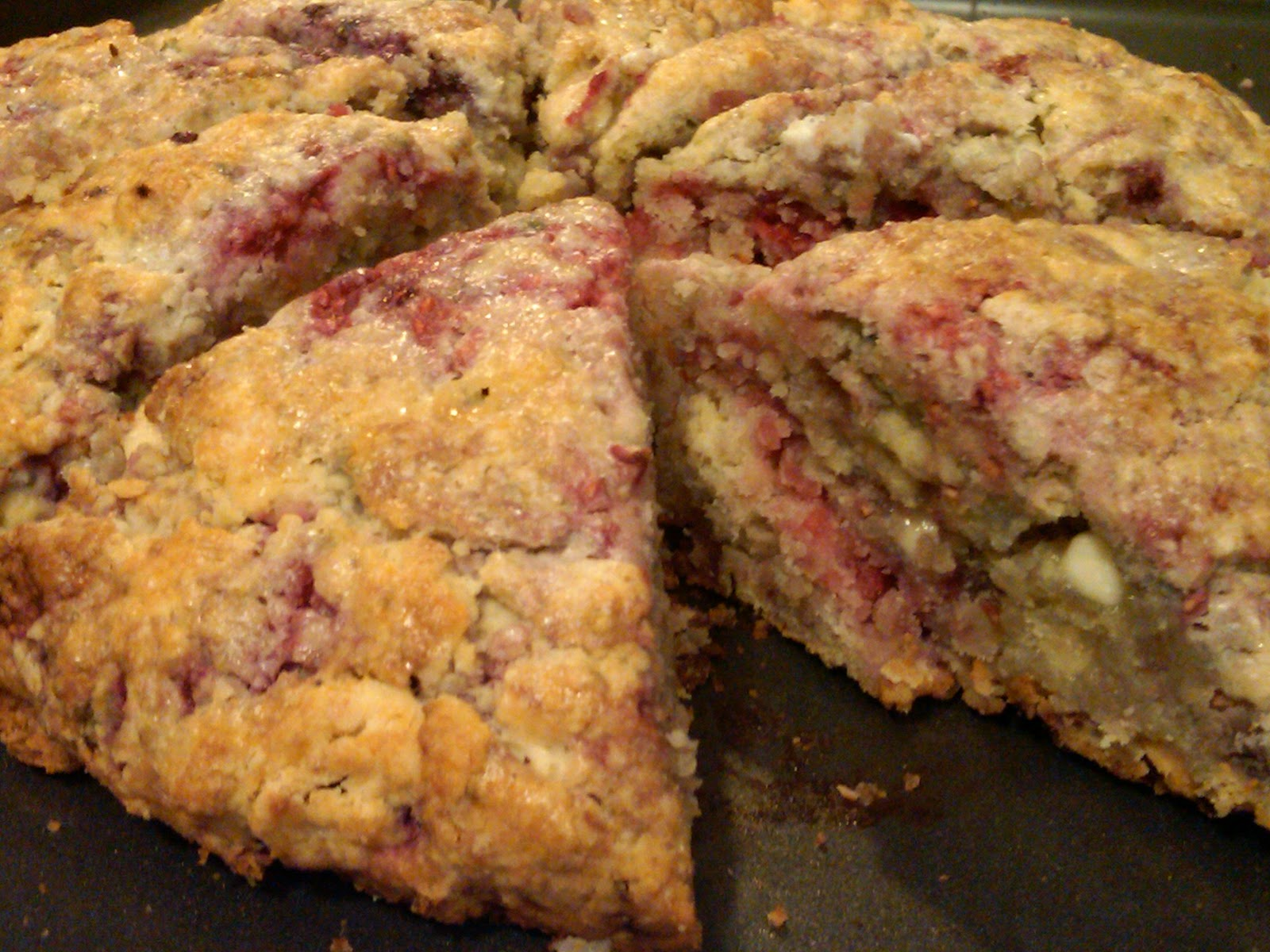 Peace☮Love♡Cook☺Play: White Chocolate-Raspberry Scones