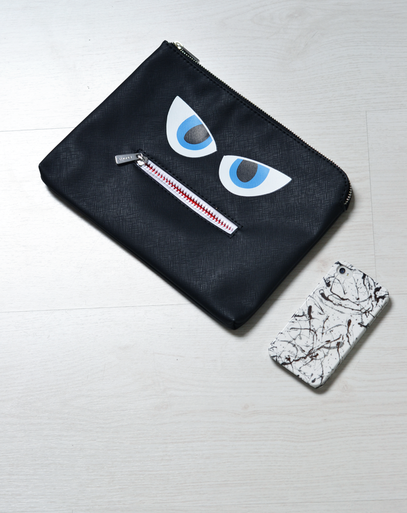 Turn it inside out // Grumpy clutch