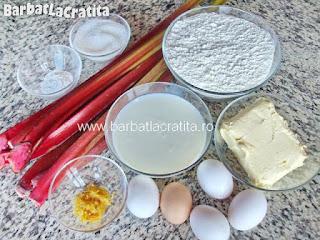 Prajitura cu rubarba ingrediente reteta