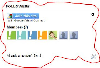 Google friend Connect cara memasang widget Follower