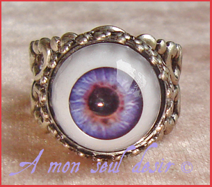 bague oeil yeux bijou cyclope gothique zombie day of the dead gothic gothik goth cyclop eye ring jewel