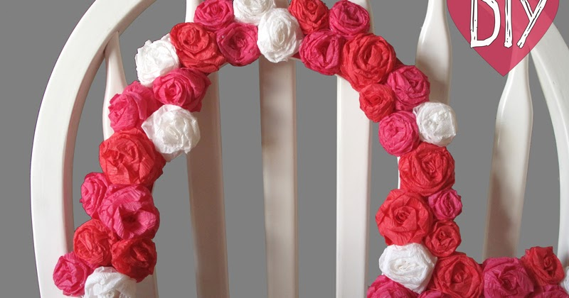 Bespangled jewelry diy crepe paper rosette heart frame tutorial mightylinksfo
