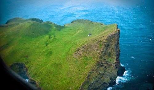 Unseen Single House on an Island